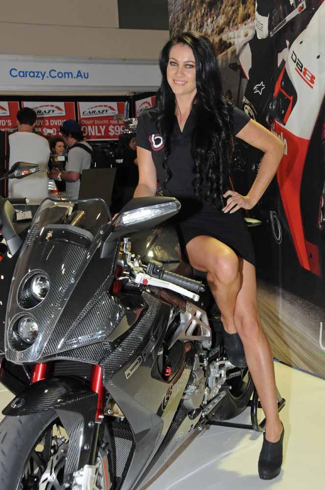 Name:  DSC_2508l Jolene & DB7, Bimota stand, 2012 Melbourne Motorcycle Expo.jpg Views: 611 Size:  98.8 KB