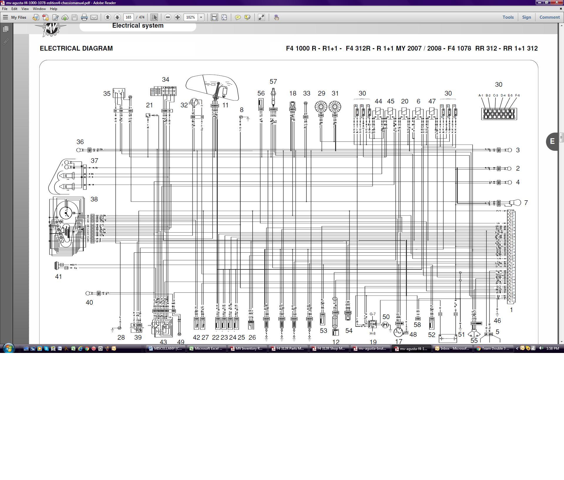 mv agusta brutale wiring diagram i need a wiring diagram for a 2009 1078 312rr please    mv  wiring diagram for a 2009 1078 312rr