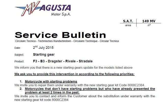 Aftermarket Sprag clutch Interested? - MVAgusta net